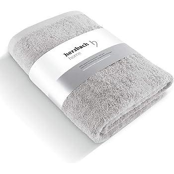 herzbach Home - Toalla de baño de calidad premium, 100% algodón egipcio, 100 x 150 cm, 600 g/m², extra suave, algodón, plateado, 100 x 150 cm: Amazon.es: Hogar