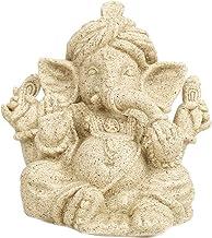 Blesiya Sandstone Ganesha Statue Elephant Figurine Buddha Deity Sculpture - Size_S, as described