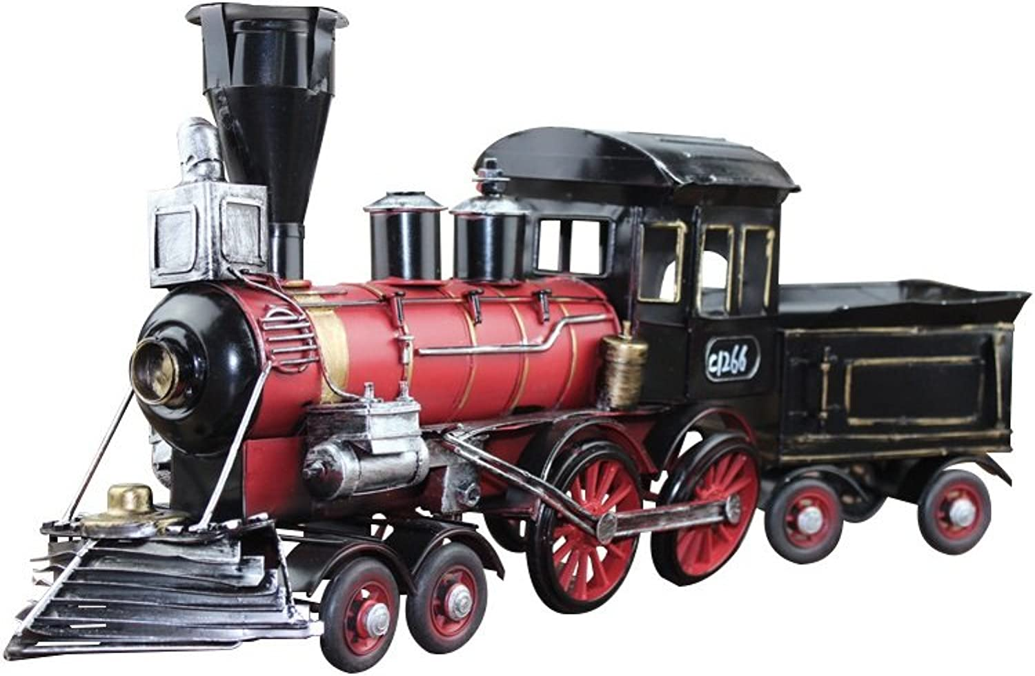 FECTY Antique Crafts Iron Red Locomotive Extra Large European Ornaments Crafts Home Furnishings Gifts Home Decoration