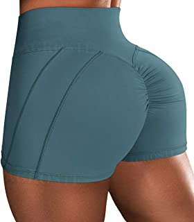 A AGROSTE Workout Shorts for Women Scrunch Booty Biker Shorts High Waisted Yoga Shorts Butt Lifting Sports Athletic Runnin...