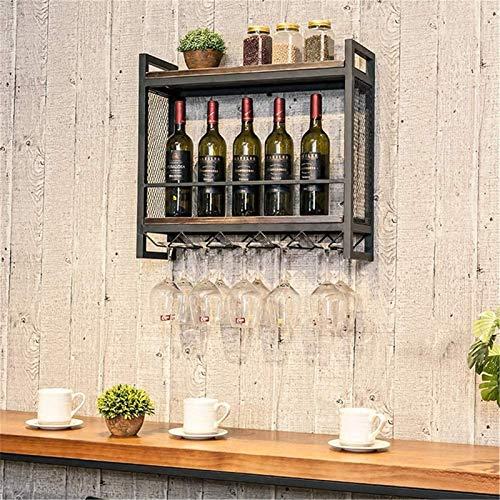 TUHFG Estante para 5 botellas de vino, soporte de almacenamiento, estante de exposición, decoración de hierro ligero, 60 x 20 x 55 cm