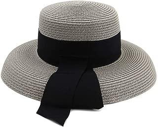 Sun Hat for men and women Hepburn Wind Big Niece Summer Outdoor Travel Beach Holiday Seaside Sun Hat Sombrero Sun Hat Visor Black Belt
