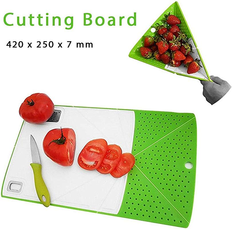 Grfamily Foldable Rinse And Cutting Board Plastic Veggies Fruit Chopping Board Strainer Multifunctional Deformable Chopp Board Slicer Kitchen Tool Elegant