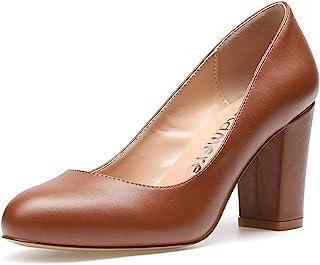Castamere Scarpe col Tacco Donna Punta Arrotondata Tacco a Blocco 8CM High Heels