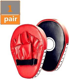 Linksworld Hand Targets Curved Boxing Kick Pad Boxing Karate Pad Focus Target Karate Kicking Shield Martial Art Kickboxing Punch Mitts Muay Thai Kick Shield Training Boxing Gloves Mitts 2pcs