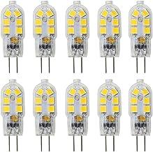 CiaJk G4 LED Bulb, 1.5W AC/DC 12V Light Bulbs Equivalent to 20W Halogen Bulb, Non Dimmable Warm White 3000K Lightbulb for ...
