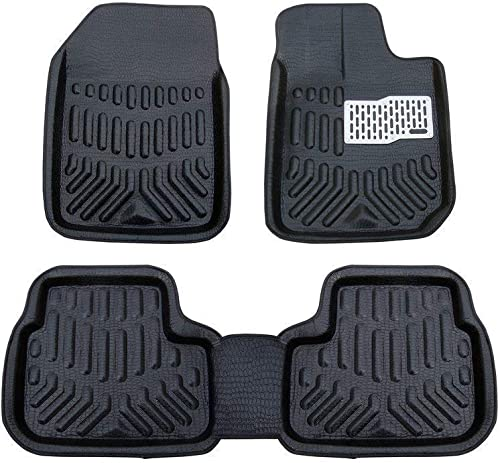 Hi Art Black Odourless All Weather Tray Mats Compatible with Maruti Suzuki Celerio