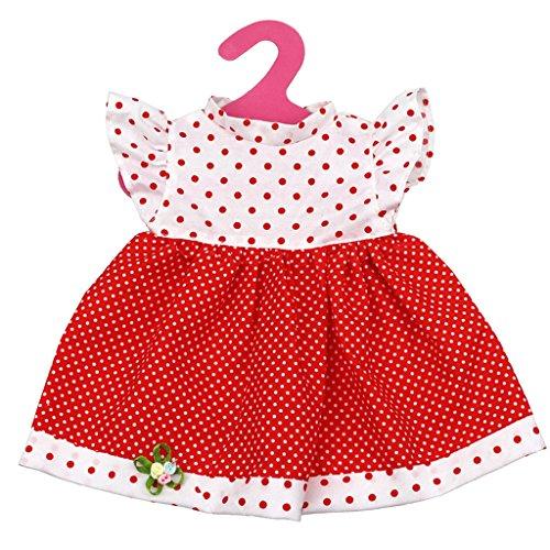 Point Rouge Robe Pour 18 Pouces Poupée American Girl Accessoire