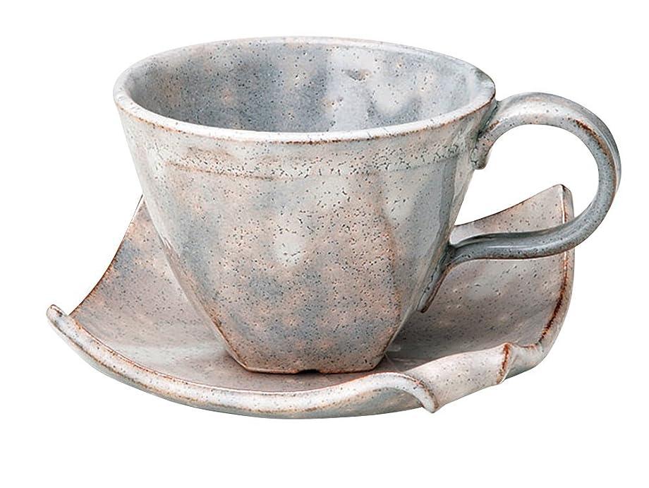 白菜分類松明宗峰窯 コーヒーカップ 御本手 鼡 カップアンドソーサー カップ:φ9.5×6.8cm(180cc) ソーサー:12.5×12.5cm 749-07-083