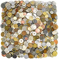 You get randomly picked 2LB, TWO POUNDS (0.9kg) coins from all over the world. Mostly cheap, small coins. Coins may be repeated. Country of origin, denomination, condition and year may vary. These old coins were circulated for a long time, may have s...