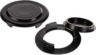 HTTH 2 Inch Patio Table Umbrella Hole Ring Plug Cover and Cap for Table Set 2Pcs (Black-2pcs)