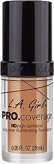 L.A. Girl PRO Coverage HD Foundation, Soft Honey, 28ml