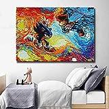 WJY Sonics The Hedgehogs y Super Marios Poster Vincent Van Gogh Starry Night Inspirado Lienzo Pintura Imprimir Imagen Decor 50cm x75cm No Frame