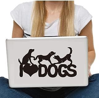 MRQXDP 2 Pieces I Love Dogs Vinyl Art Wall Stickers Home Decor Removable Laptop Decals DIY Waterproof Self Adhesive Wallpaper decorativo habitacion cameretta adesiva Muro
