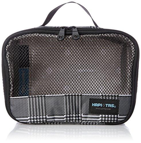 [ハピタス] オーガナイザー Sサイズ パッキングバッグ 中身がわかるメッシュ生地 豊富な柄 3L 15 cm 0.08kg グレンチェックブラック