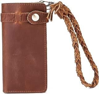 Genuine Leather Clutch Wallet Handy Purse for Women Vintage Long Bifold, RFID Blocking