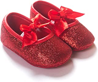 red sparkle baby shoes