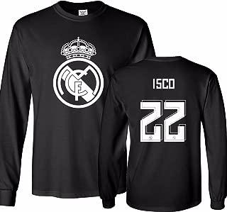Tcamp Real Madrid Shirt ISCO Alarcon #22 Jersey Men's Long Sleeve T-Shirt