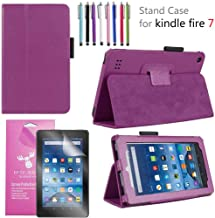 EpicGadget 2019/2017 Amazon Fire 7 Case, Smart Cover Case for Fire 7 Premium PU Leather Folding Folio Stand Case for Fire ...