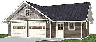 2 car garage plans hip roof