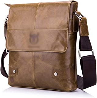 Mens Bag Messenger Bag Computer Briefcase Men's Leather Shoulder Bag High capacity