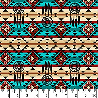 Native Dreamcatcher Cotton Fabric by The Yard