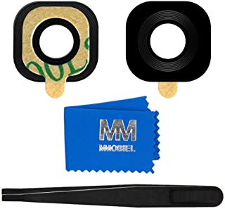 comprar comparacion MMOBIEL Reemplazo Lente para Cámara Trasera Compatible con Samsung Galaxy S6 G920, S6 Edge G925 (Negro) Incl. Pinzas