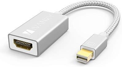 iVANKY Adaptador Mini DisplayPort a HDMI (Cabezales de Aluminio, Conexión Fácil) Adaptador Thunderbolt a HDMI Compatible con Microsoft Surface Pro, Lenovo y Otro Dispositivo con Puerto Mini DP, Blanco