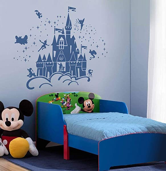 Best Design Amazing Decals Disney Castle Characters Wall Sticker Art Decal Sticker Made In USA