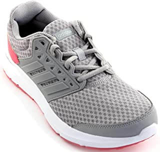 adidas Women's Galaxy 3 Running Shoes Grey Three/Grey Two/Real Pink 8.5