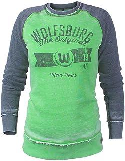 VfL Wolfsburg Frauen Sweater/Pulli Mittelfeld The Original Mein Verein Größe XS - 2XL