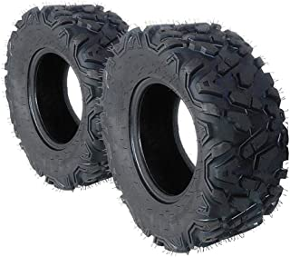 Set of 2 ATV/UTV Tires 25x10-12 Rear 6PR For 2007–2010 4x4 Yamaha GRIZZLY 700