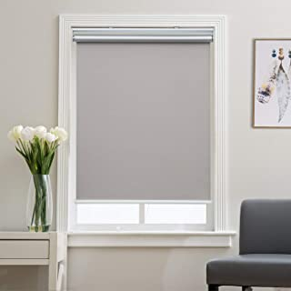 Blackout Shades Roller Shade Window Blinds, Black Out 99% Light & UV, Thermal, Cordless and Easy to Pull Down & Up, Gray, 23