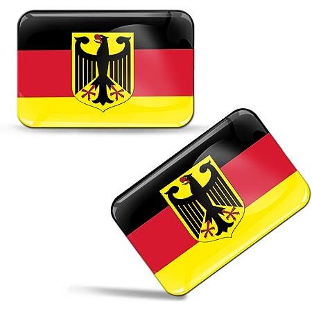 Biomar Labs 2 X Aufkleber 3d Gel Silikon Stickers Germany Flag Deutsche Deutschland Flagge Fahne Autoaufkleber F 9 Auto