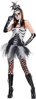 amscan 840966 Skeleton Petticoat Dress, Adult Standard Size, 1 Piece, Black