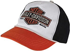 Harley-Davidson Boys Youth Trademark B&S Colorblocked Baseball Cap