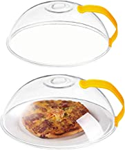 Microwave Splatter Cover-2 Pack, Transparent Cover, Microwave Plate Cover Lid with Handle and Adjustable Steam Vents Holes...