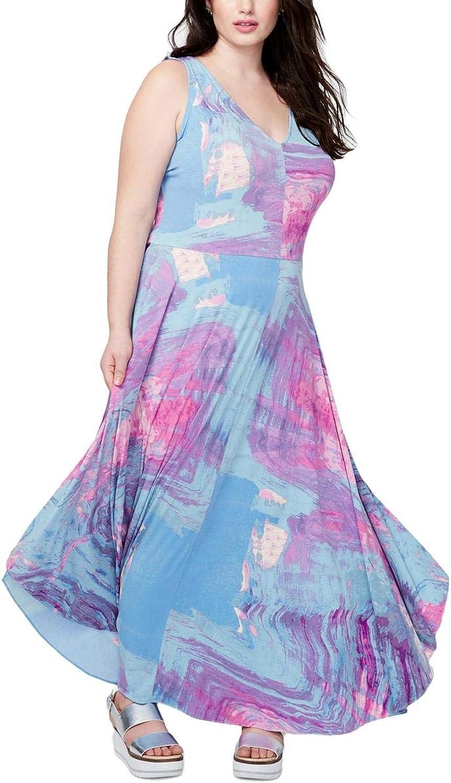 Rachel Rachel Roy Womens Plus Daytime TieDye Maxi Dress