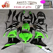 Angel-moto ABS Plastic Injection Molding Kit Fit for Kawasaki ZX6R (2009 2010 2011 2012) ZX636 Ninja ZX 6R (09-12) Motorcycle Body Fairing Painted K132