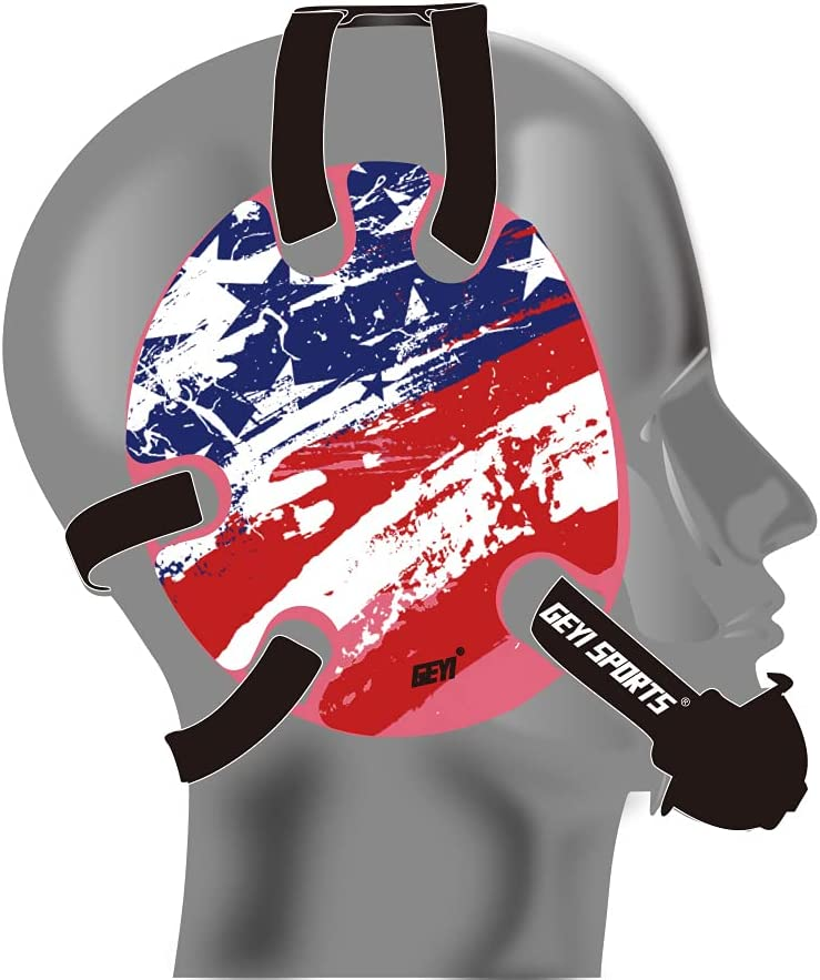 Japan's largest assortment Sale special price Geyi Wrestling Headgear with Decals American Flag