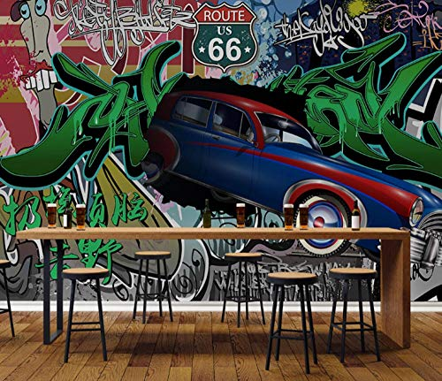 Photo Wallpaper Car Graffiti Tooling Retro Background Wall Large Wall Mural Series Wallpaper for Living Room Wall Art Wall Decor Home Decor-137.8X98.4Inch