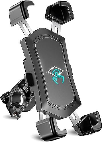 Cocoda Support Téléphone Vélo Détachable à Rotation 360°, Support Telephone Moto Anti-secousse en Acier Inoxydable Co...
