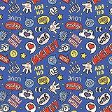 Disney Mickey Mouse Words - 100% Baumwolle - ab 0,5 Meter