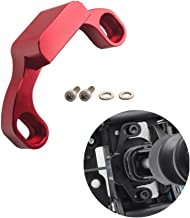 DEWHEL Manual Performance Shifter Stop Gap Removal Shift Stop Removes Loose Sloppy Shift Gate Feel CNC Aluminum for 2015+ WRX/10-14 Legacy/Outback/14+ Forester (Red)