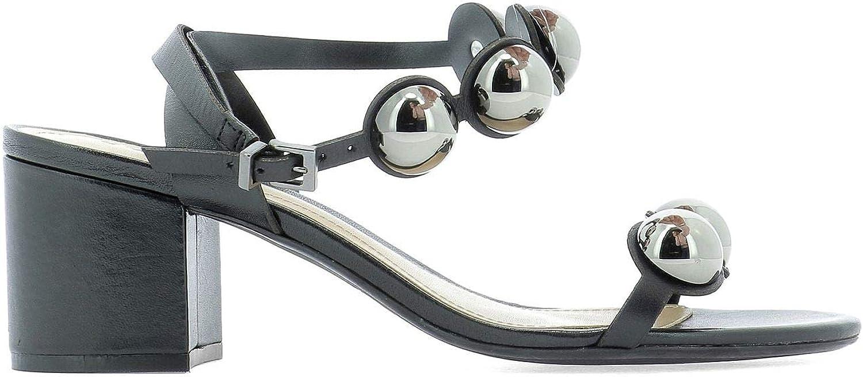 Schutz Women's S2000103520002 Black Leather Sandals
