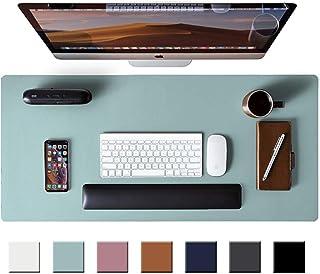 Leather Desk Pad Protector,Mouse Pad,Office Desk Mat, Non-Slip PU Leather Desk Blotter,Laptop...