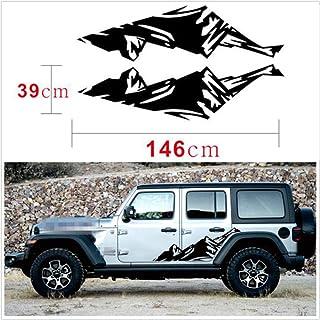 Decalcomania per Auto CELYCASY Adesivo in Vinile per Jeep Jeep Girl Tumbler Decalcomania Wrangler Compass Decal Decalcomania Explorer JKU Jeep Life Mountain Decal