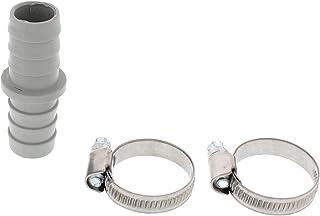 Scanpart Ablaufschlauch-Verbindungsstück für Wasch- und Spülmaschinen-Ablaufschläuche, Kunststoff, plus 2 Schlauchschellen