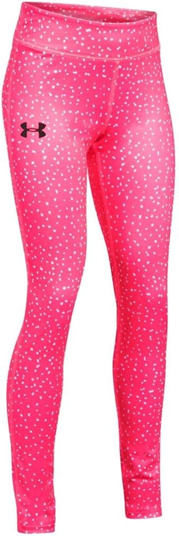 Under Armour Girls HeatGear Printed Legging, Penta ピンク, LG (14-16 Big Kids) x One Size