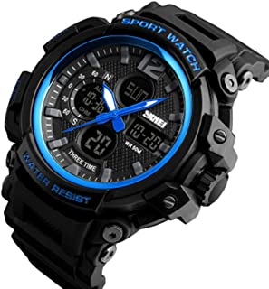 Three Time Watch Men's Outdoor Sports Waterproof Student Sports Watch.